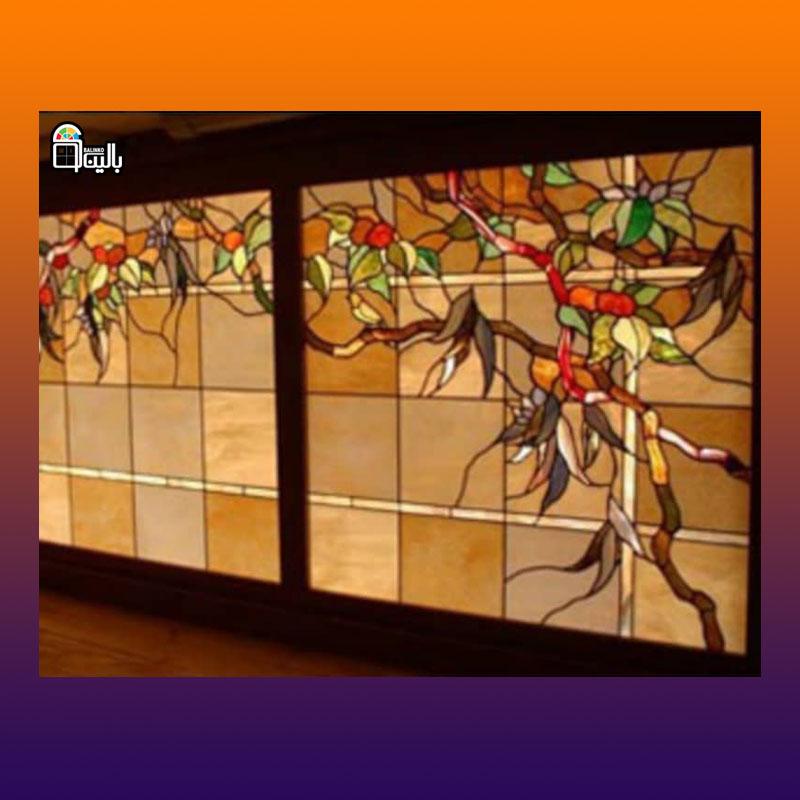 انواع شیشه ویترای با طرح دلخواه
